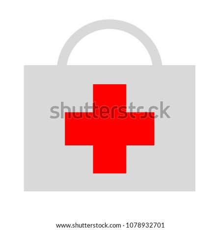 vector doctor case illustration, health care - medical case