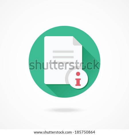 Vector Document Information Icon