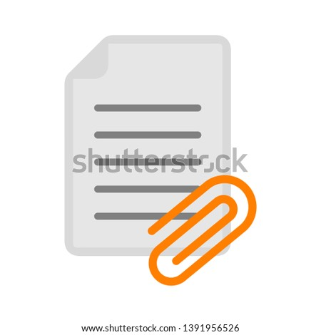 Vector document with Attachment icon
