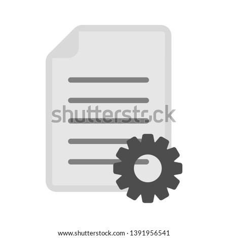 vector document with Cog icon