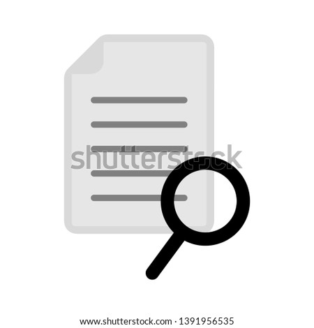 Vector document with search icon