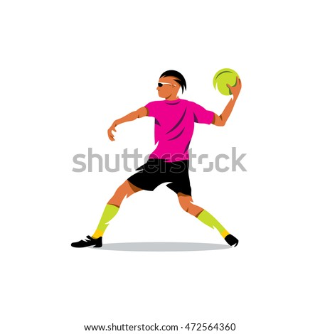 vector dodgeball cartoon