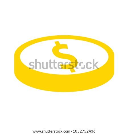 vector dollar coin