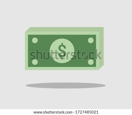 Vector dollar sign, money dollar icon - money dollar symbol. money cash icon, cash register, payment of money, dollar sign. Vector illustration
