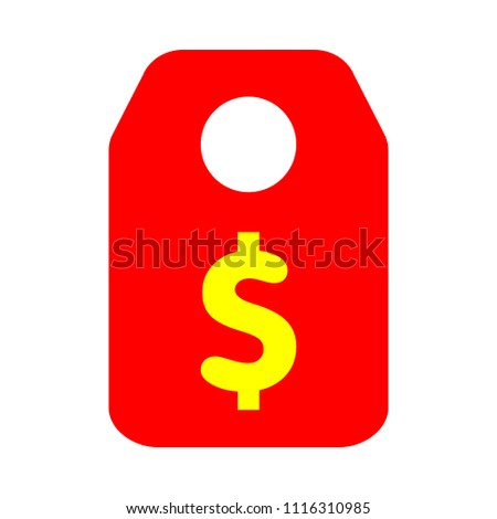 vector dollar tag sign  money