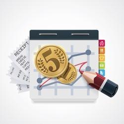 Vector domestic costs increase icon