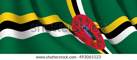 vector dominica flag  dominica