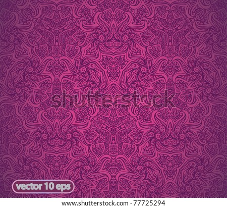 vector doodle cute seamless pink  background - stock vector