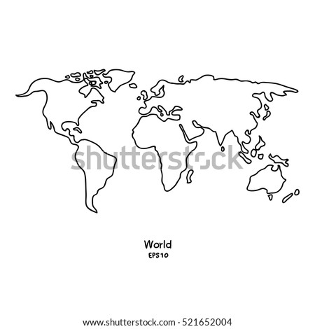 Line World Map Download Free Vector Art Stock Graphics Images