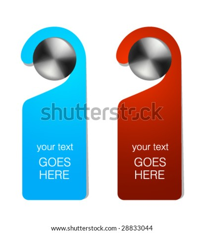 door knob hanger template door