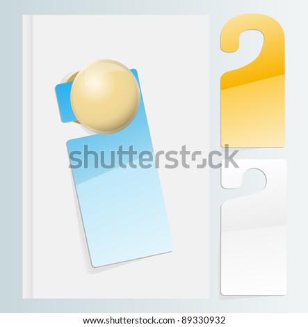 Vector door labels
