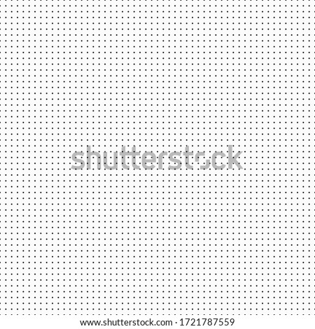 Vector dots seamless engineering pattern template. Vector template background from dots for daily notes and drawing. Seamless vector dot pattern.