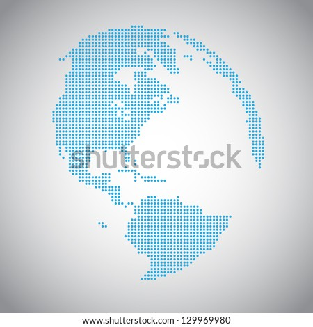 Vector Dotted Globes. EPS10 - stock vector