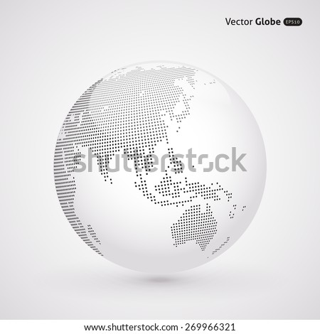 vector dotted light globe