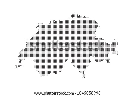 vector dotted map of