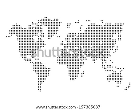 World continents map vector download free vector art stock vector dotted world map gumiabroncs