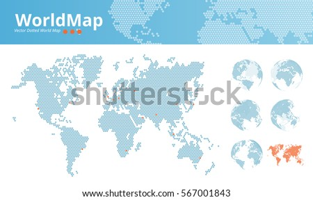 World map transport icon download free vector art stock graphics vector dotted world map business world map with marked economic centers and earth globes gumiabroncs Images