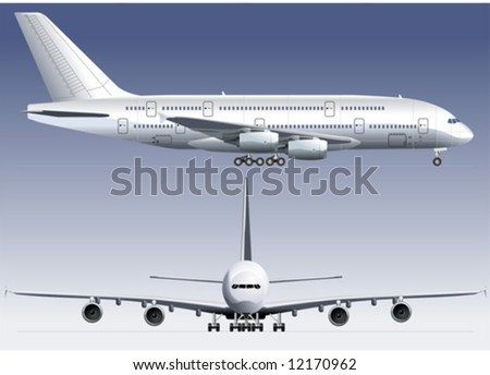 Vector Double-deck Lagest Jetliner. More vector aircrafts see in my portfolio.