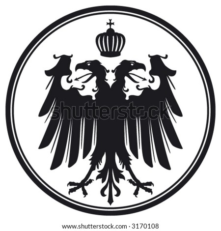 vector double-headed eagle with crown