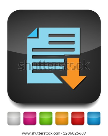 Vector Download file icon - file document symbol - illustration
