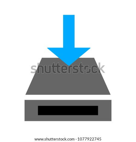 vector Download icon - file button, downloading sign symbol