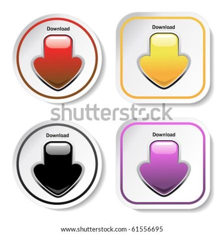 Vector download stickers