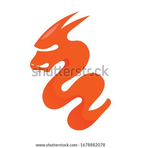 vector dragon  logotype icon
