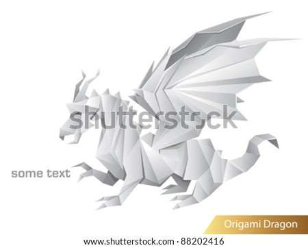 vector dragon origami