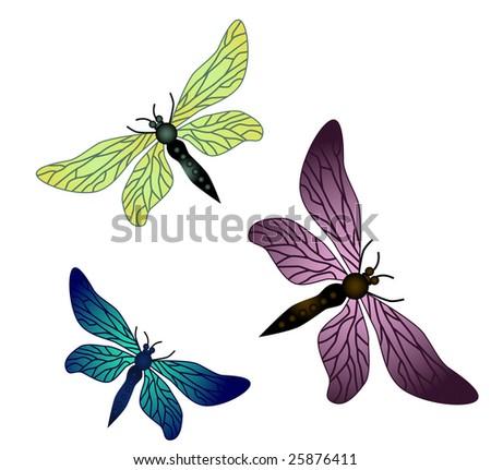 vector dragonflies