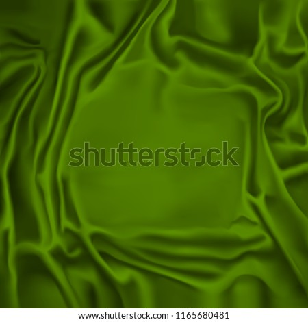 Vector Drape. Groovy Green Background