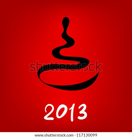 vector drawing a snake - a symbol of the new year