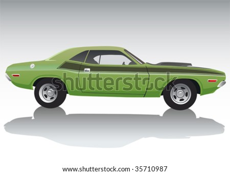 vector drawing a sports car