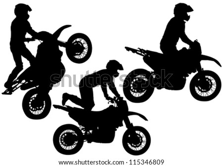 Vector drawing a sports extreme motorcycle