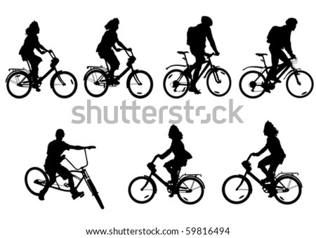 vector drawing bicycle races