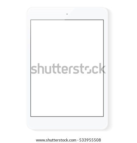 vector drawing digital tablet white blank screen