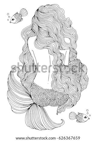 vector drawing fantastic sea
