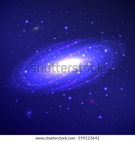 Vector drawing galaxy, space