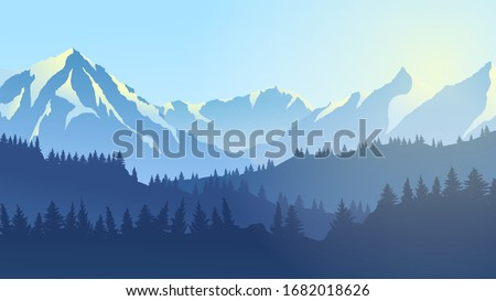 vector drawing mountain