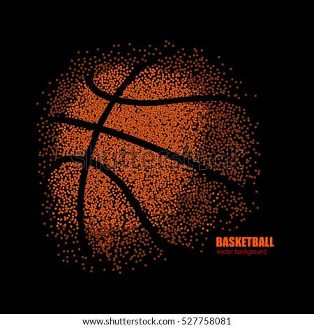 vector drawing of a basketball