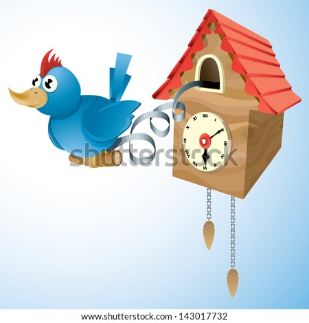 Cuckoo Clock Drawings Vector Drawing of a Cuckoo