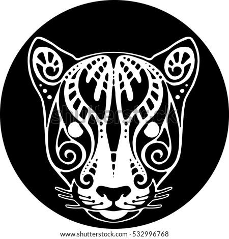 vector drawing of a jaguar's