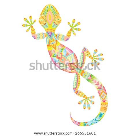 vector drawing of a lizard