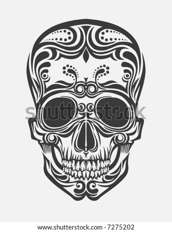 stock vector vector drawing of a stylized skull