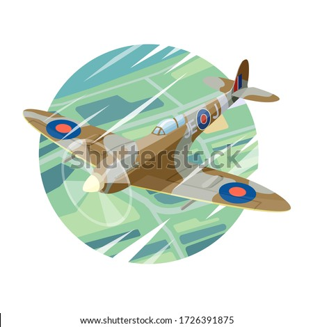 vector drawing of a supermarine