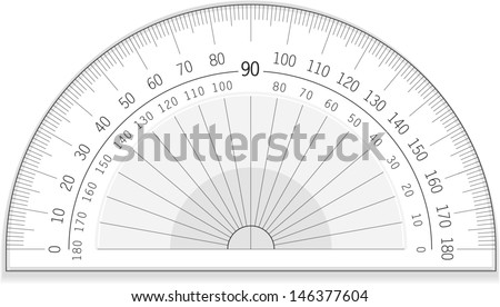 Vector drawing of an accurate protractor/Protractor/Great useable file of an accurate protractor, measure angles with this file :)