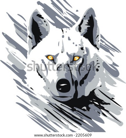 Vector drawing of animal life. This is not a trace, but a digital drawing based on my sketches.