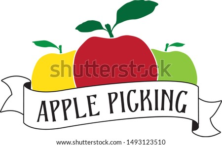 vector drawing of apples with