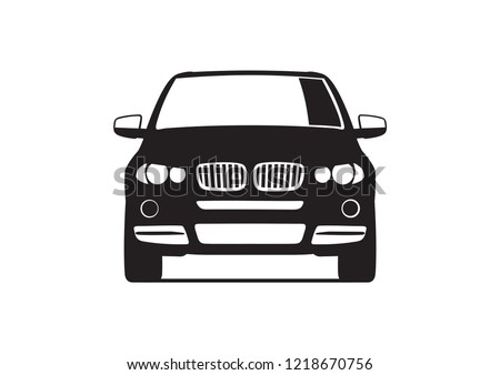 vector drawing of black suv