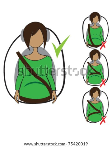 vector drawing of how to wear