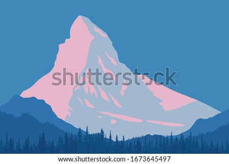 vector drawing of matterhorn